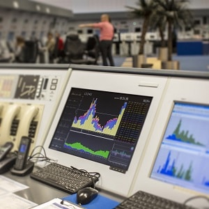 User Interface on screen in workspace air traffic control