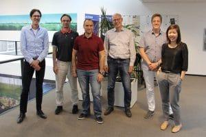Foto van het team bestaande uit 6 personen